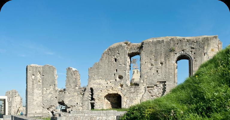 Foto van de kasteelruine in Valkenburg