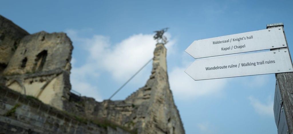 Er is veel te zien op de kasteelruine in Valkenburg