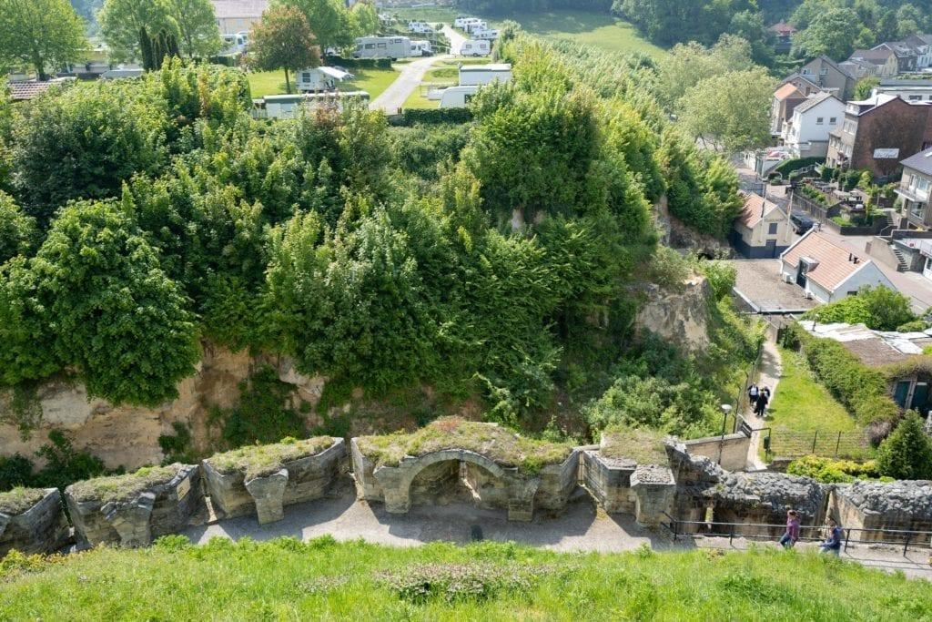 Uitzicht vanaf de kasteelruine in Valkenburg